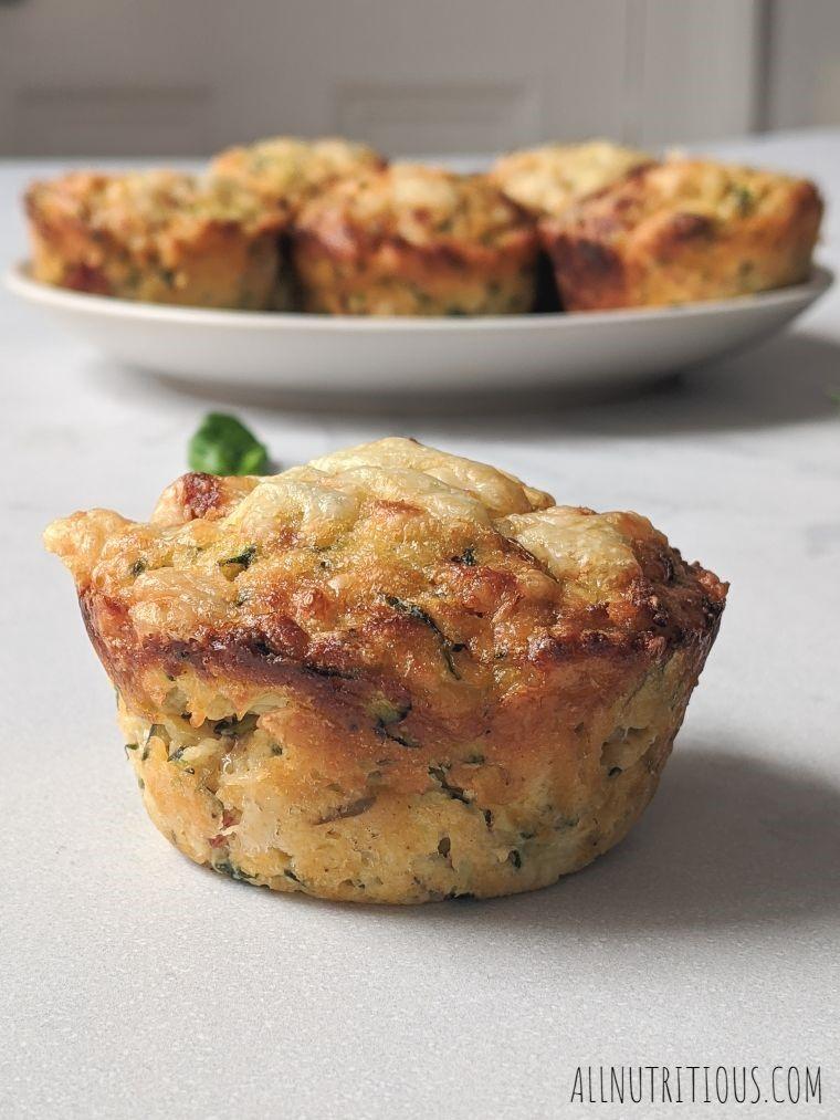 keto zucchini pepperoni muffins