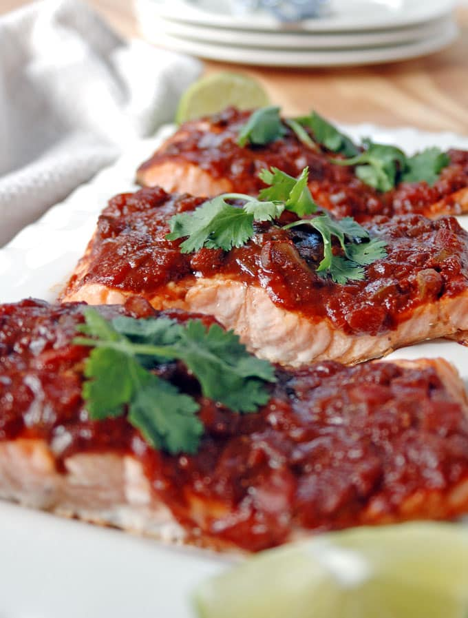 Salmon With Balsamic Salsa