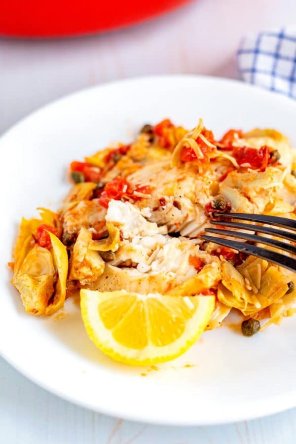 Skillet Tilapia With Artichokes