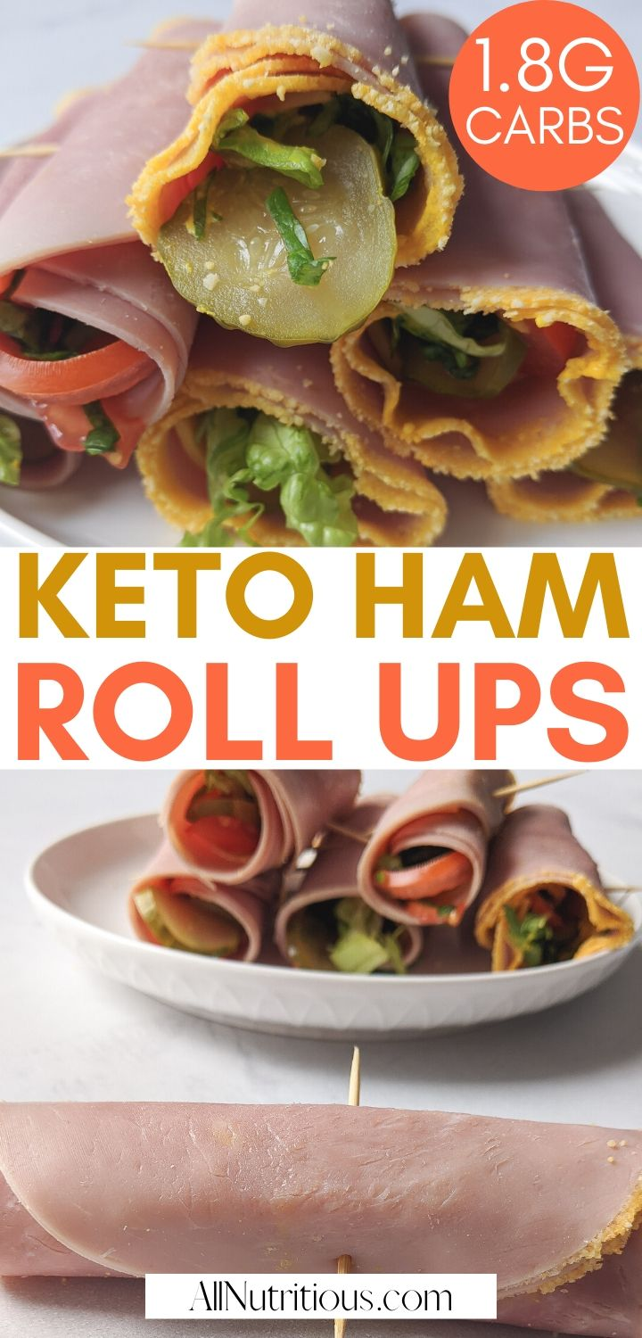 ham rolls ups with cheese pinterest pin