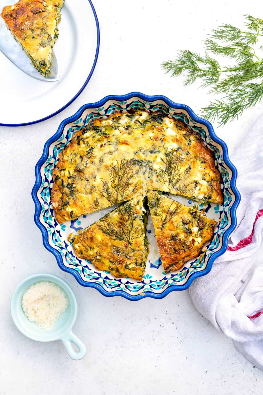 Easy Crustless Spinach Quiche