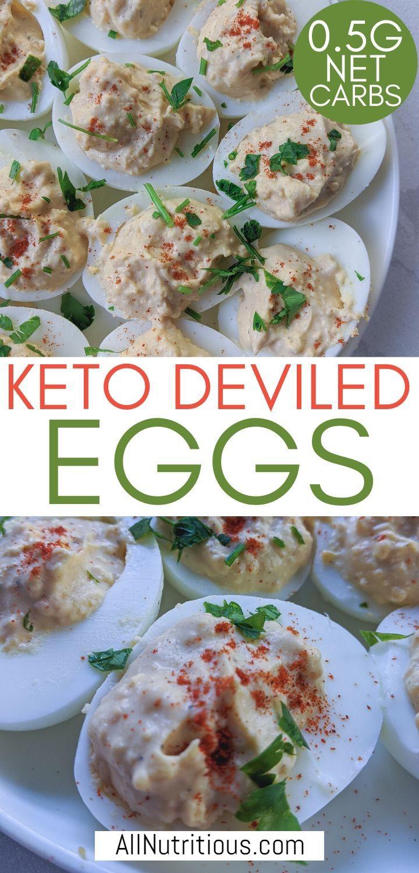 low calorie deviled eggs pinterest pin