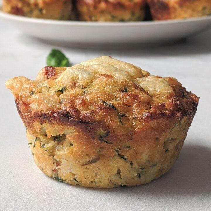 Keto Pepperoni Zucchini Muffins