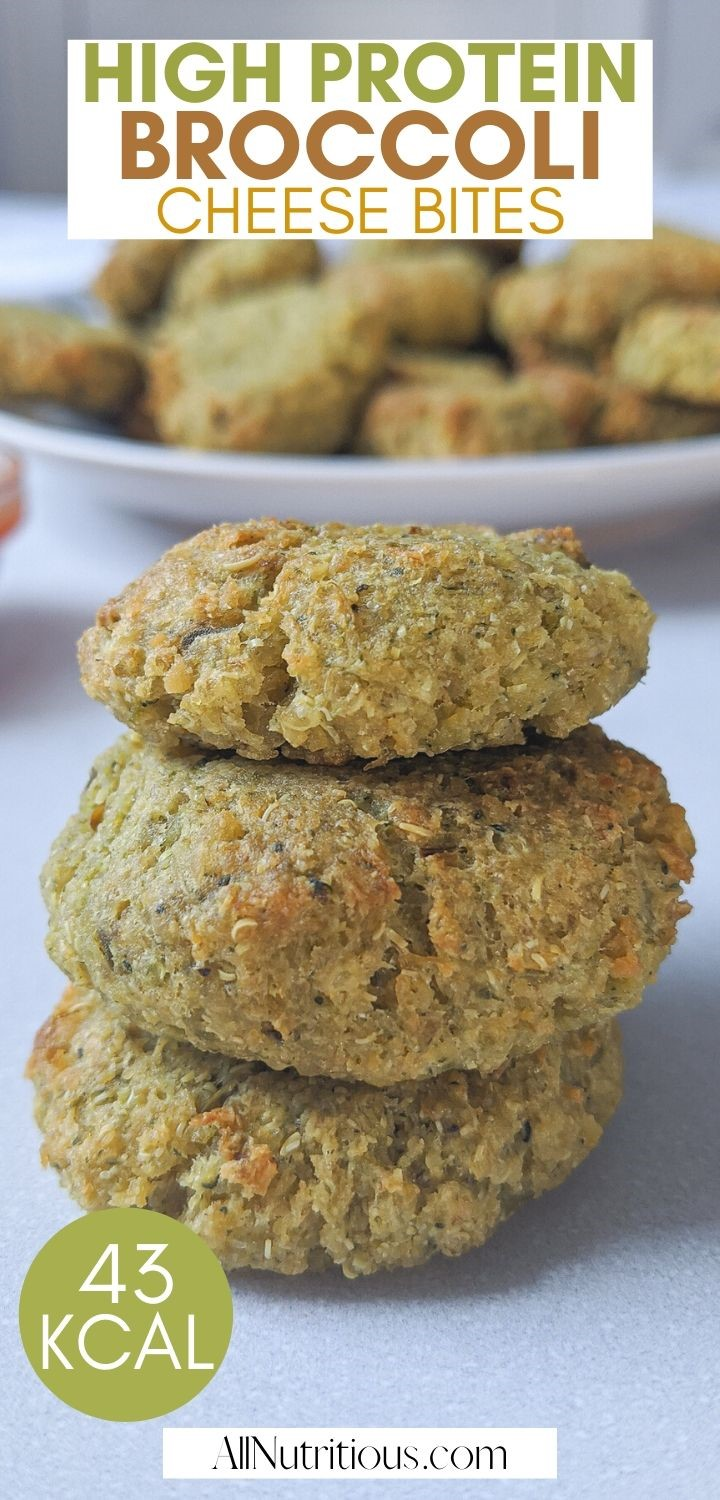 high protein broccoli cheese bites stacked pinterest pin