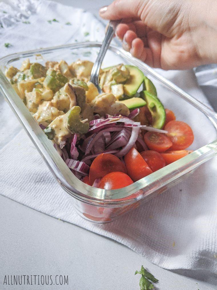 healthy egg salad bowl