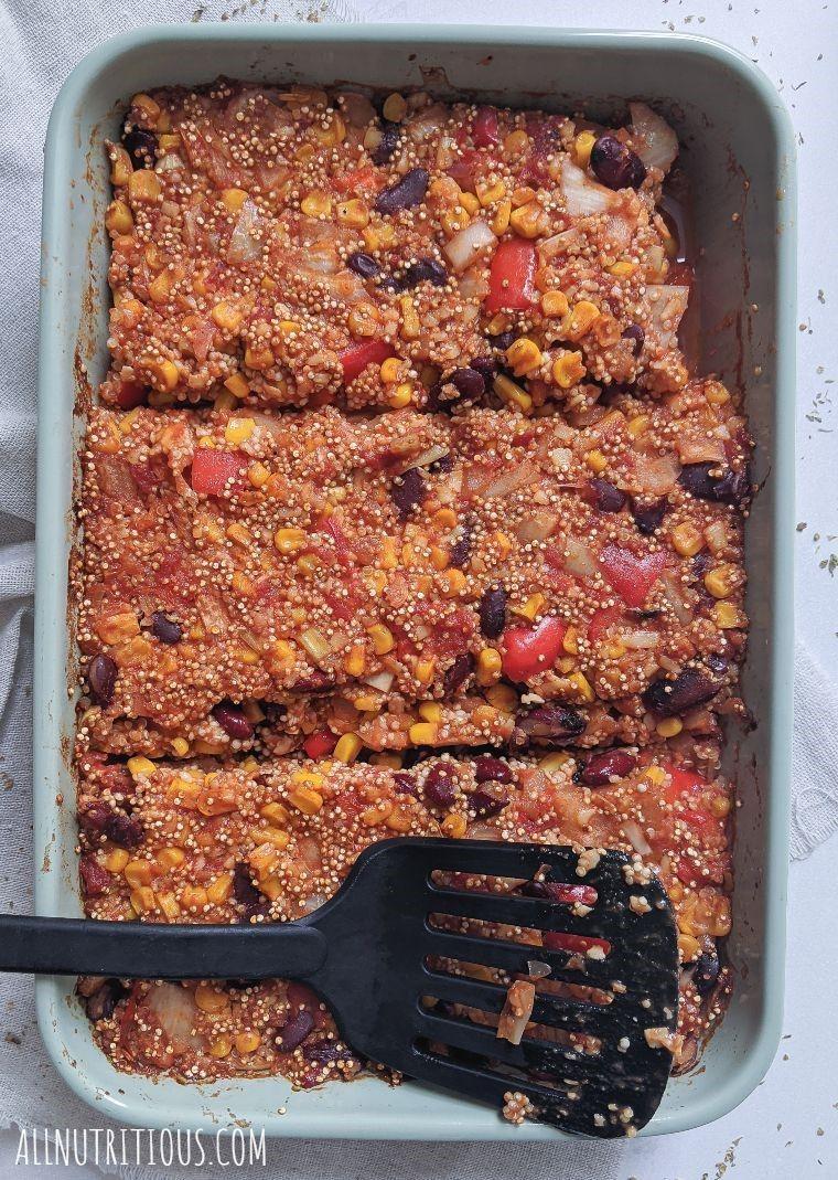 high protein quinoa casserole