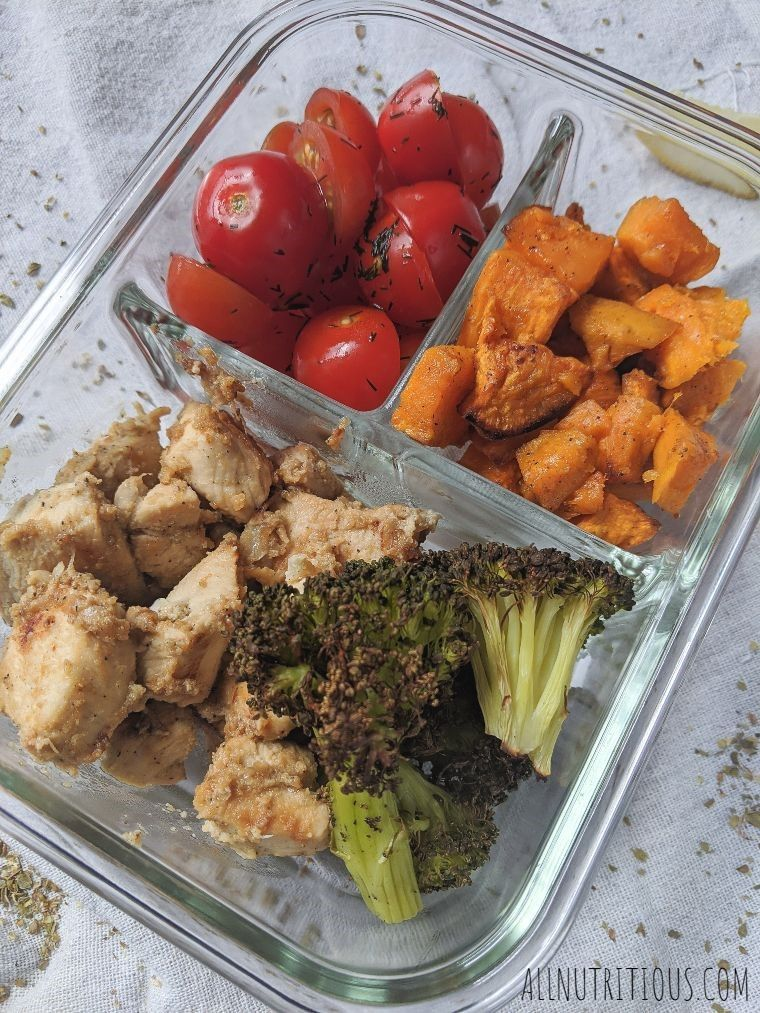 meal prep veggies and chicken