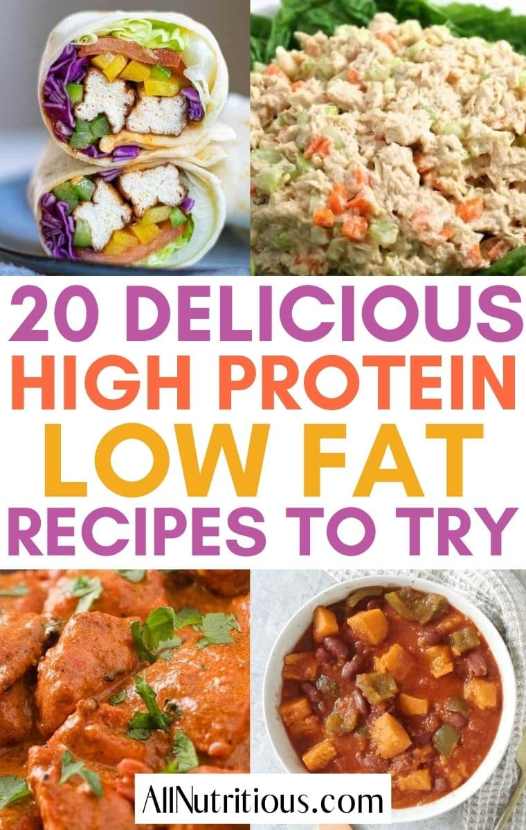 high protein low fat meals