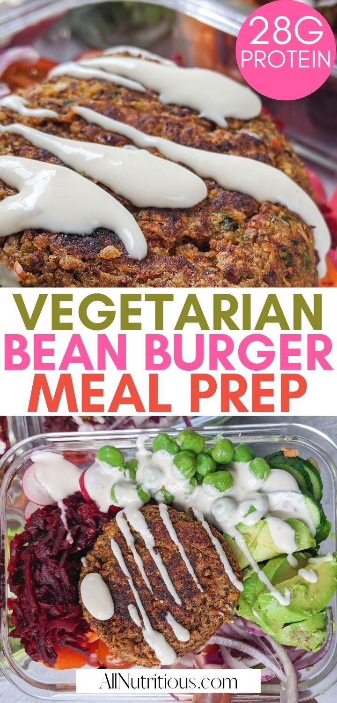 vegetarian burger meal prep pinterest
