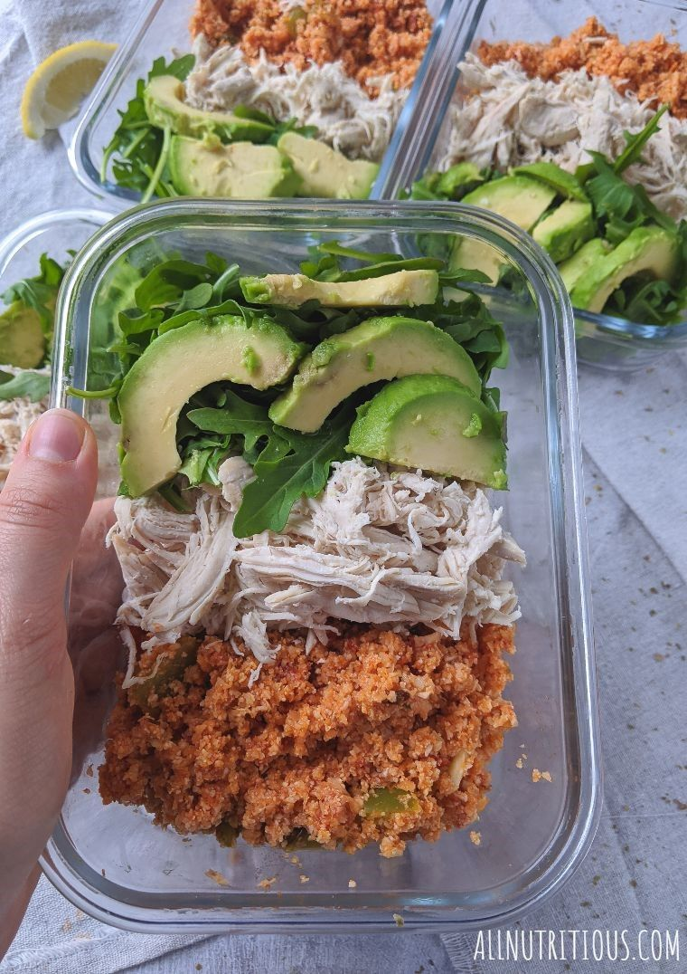 low carb mexican meal prep bowls