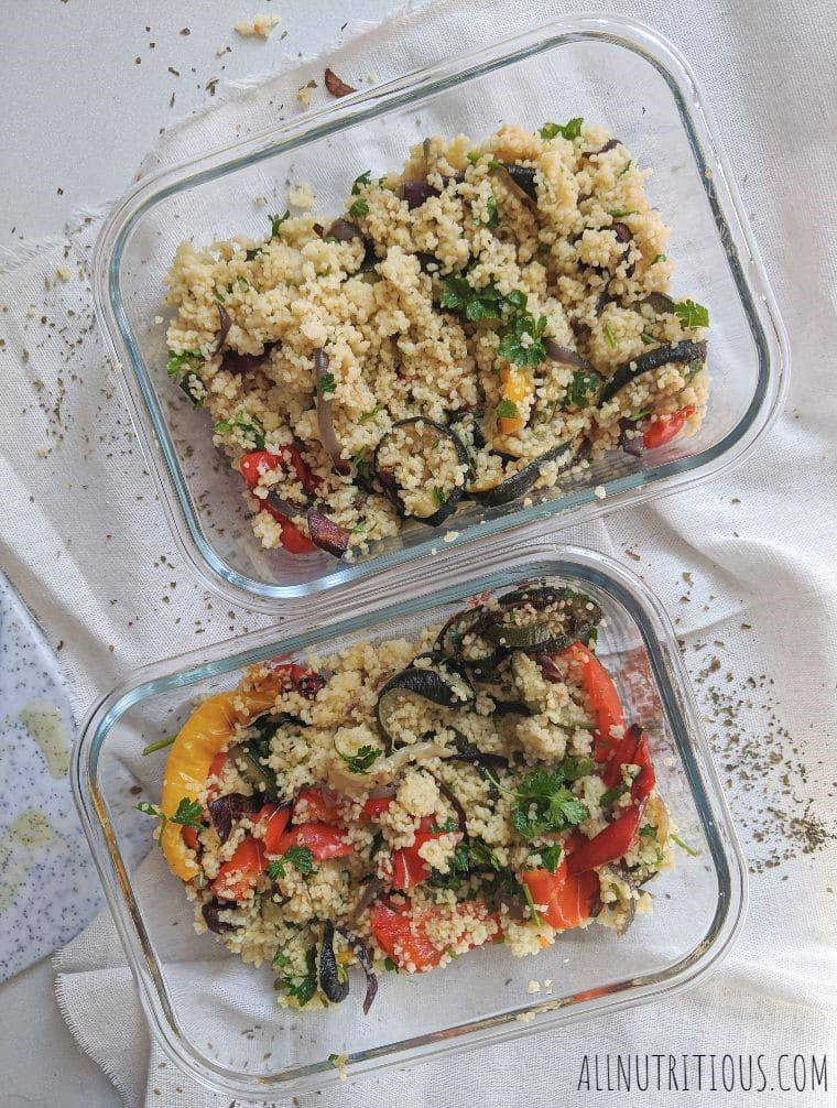 couscous with vegetables meal prep