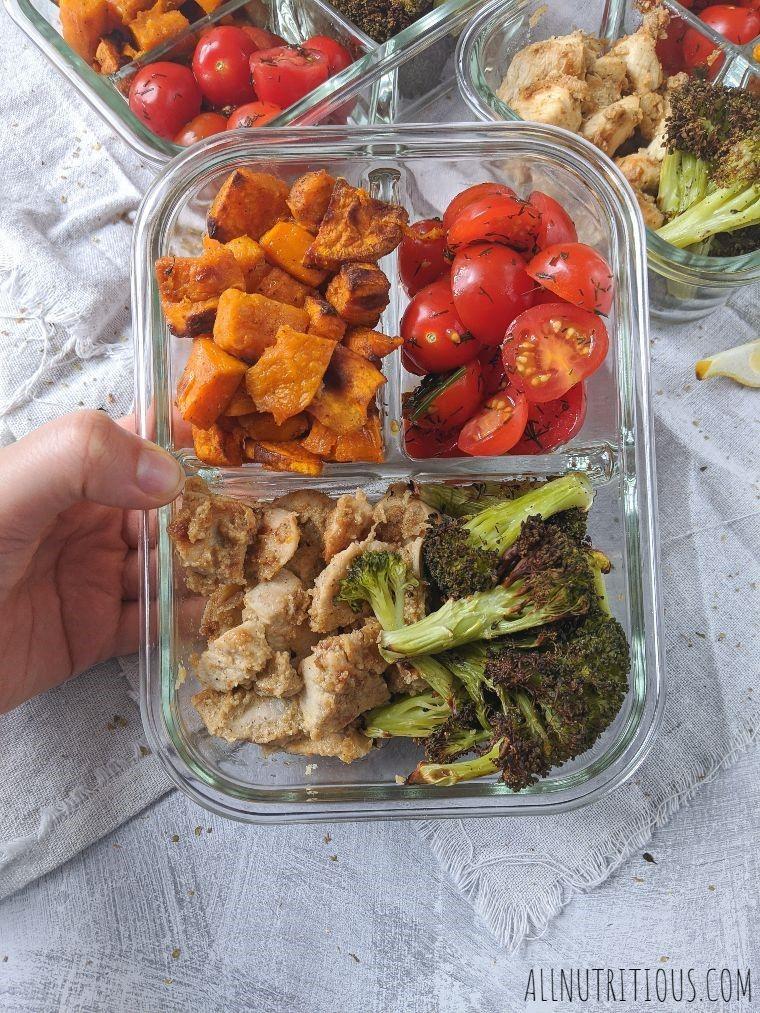 lemon chicken with vegetables meal prep