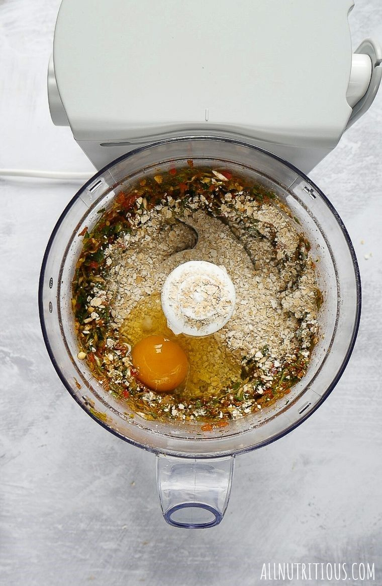 ingredients in a food processor