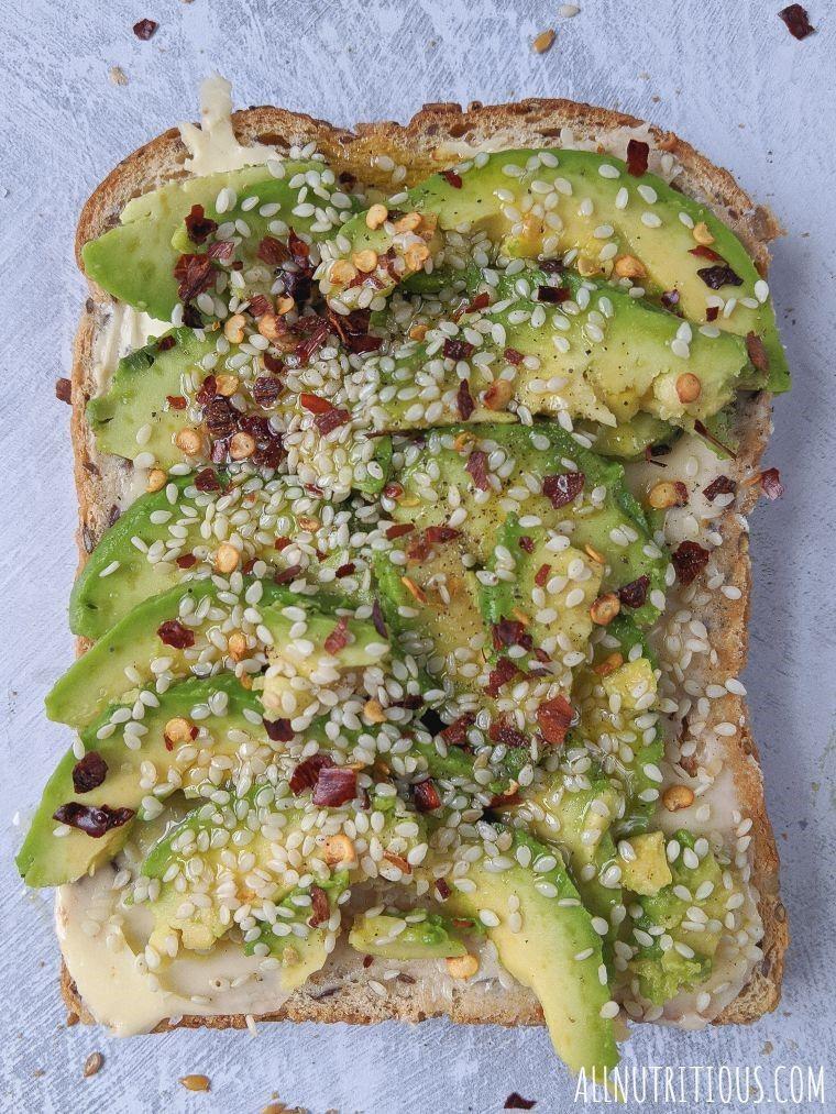 avocado and sesame
