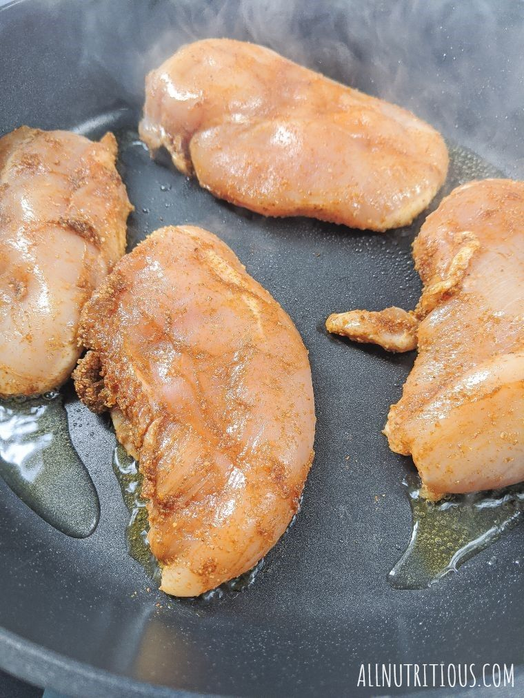 chicken breasts fried
