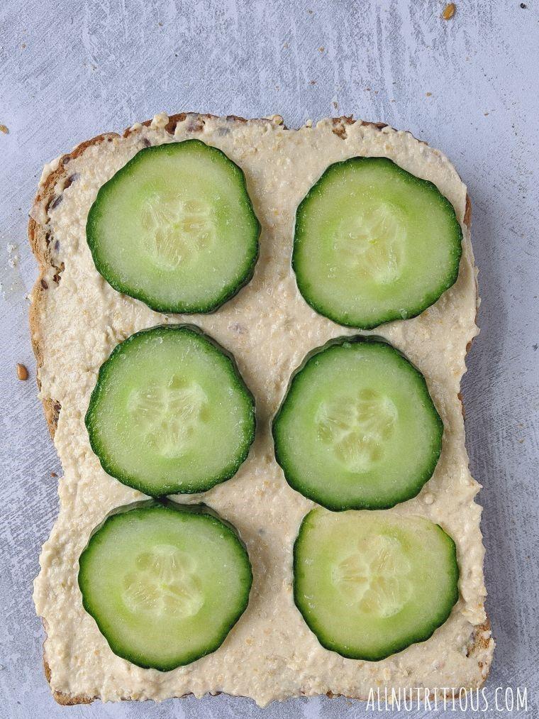 cucumber and hummus