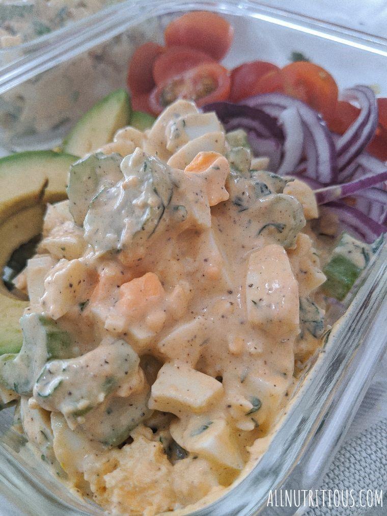 egg salad side shot