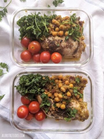 one-pan chicken meal prep