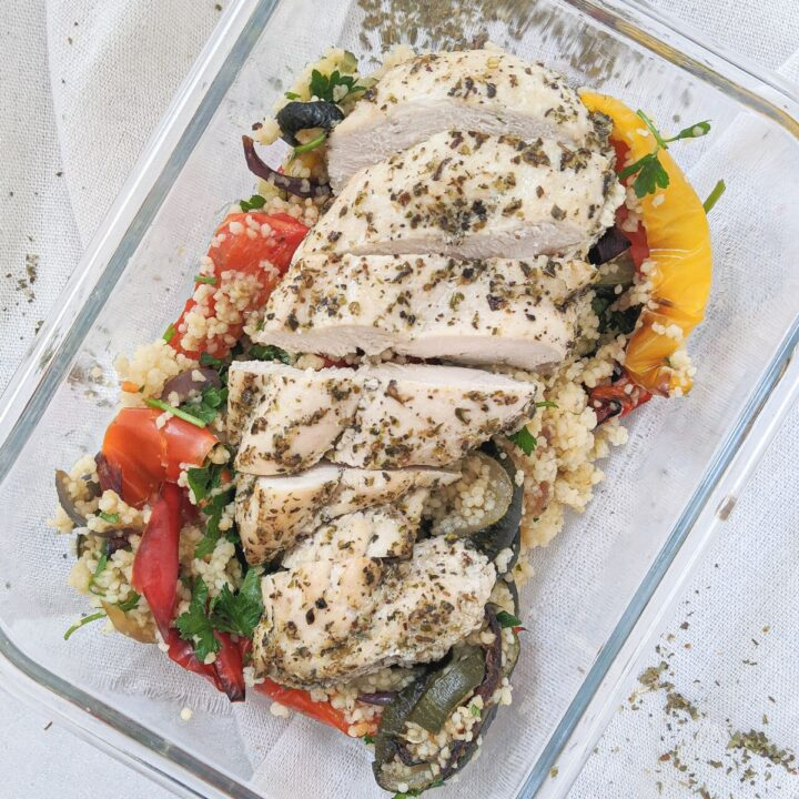 herb chicken couscous meal prep