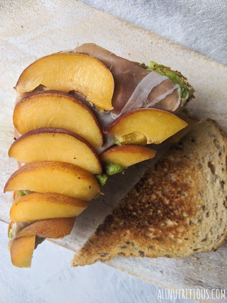 Peach, Prosciutto and Avocado Sandwich