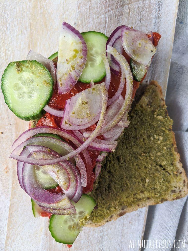 Greek Avocado Sandwich