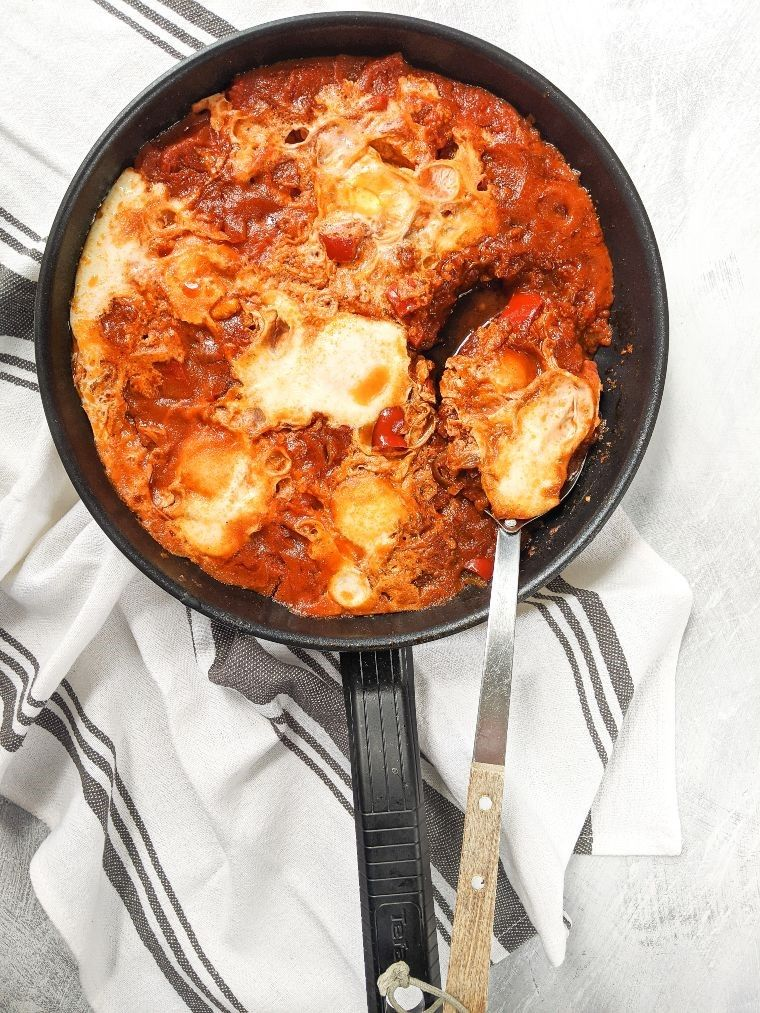 pan of easy shakshuka