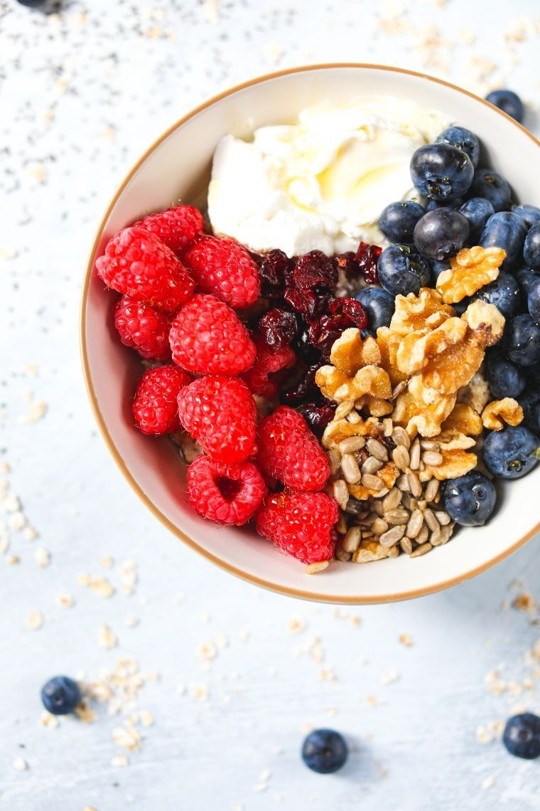 protein bowl with berries