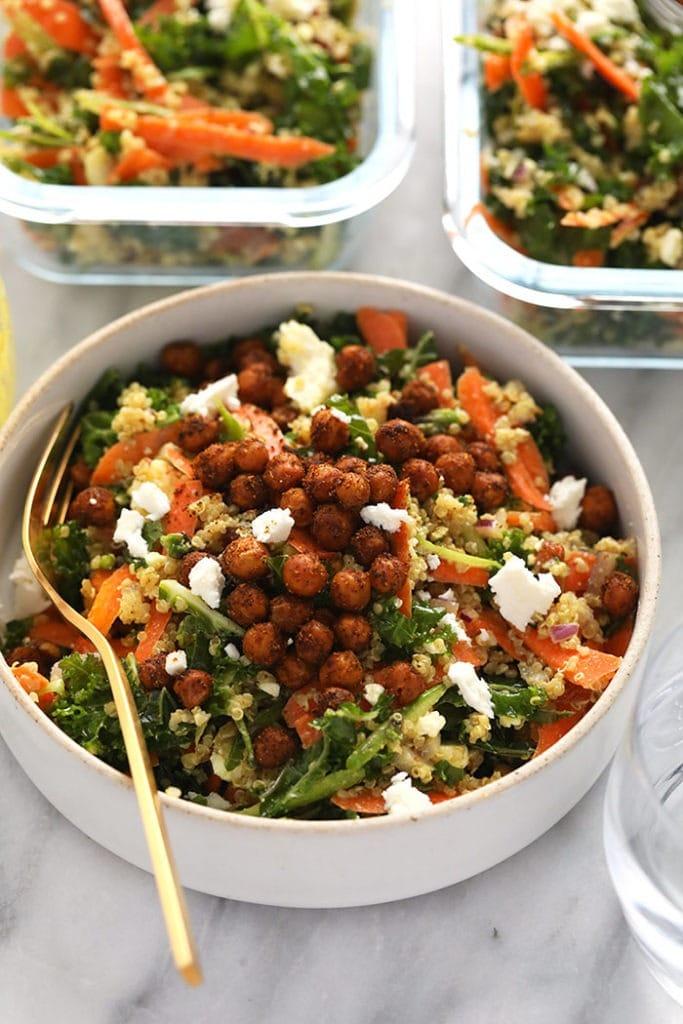 Moroccan Quinoa With Crispy Chickpeas