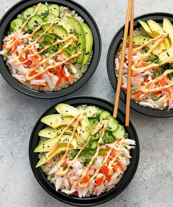 California Sushi Roll Bowls