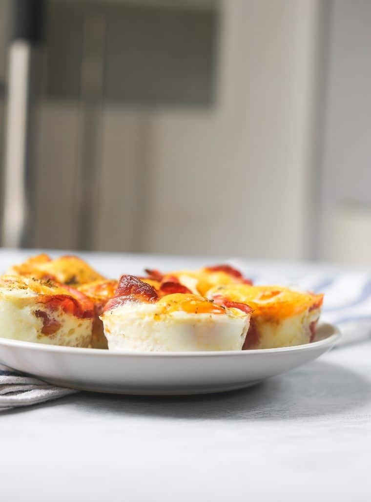 plate of low carb egg cups