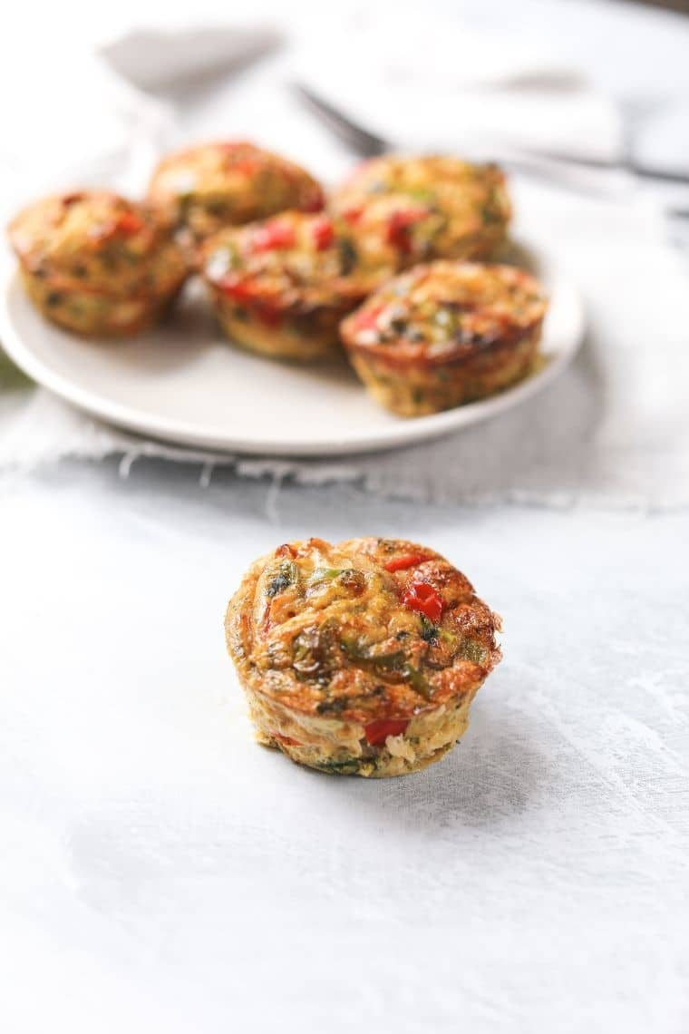 displayed egg muffins