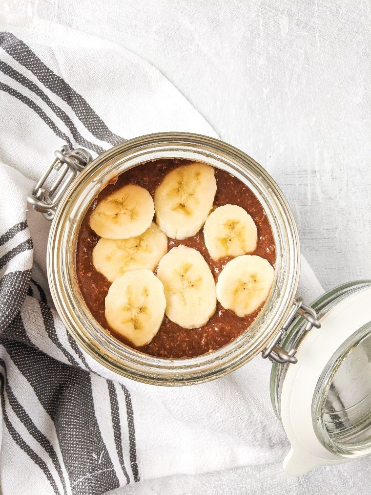 chocolate and banana protein oats