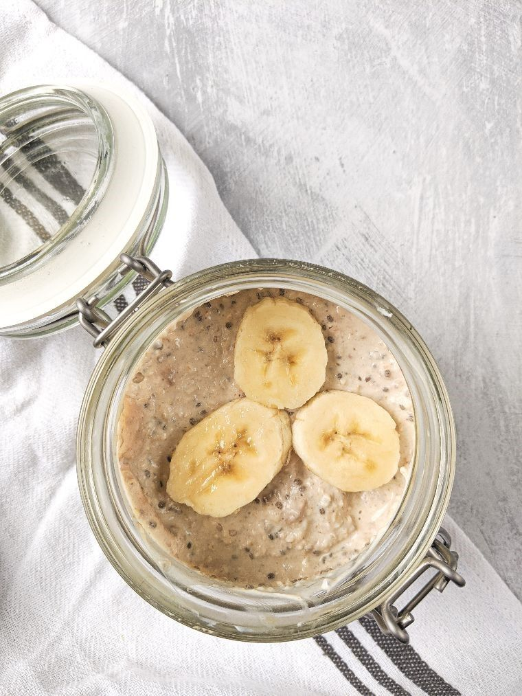 peanut butter oats with banana