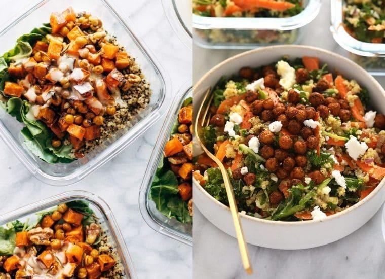 easy meal prep salads