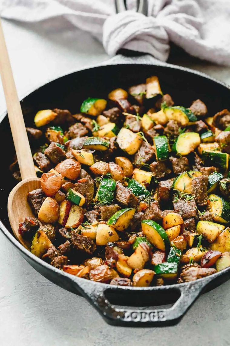 Beef Zucchini Skillet