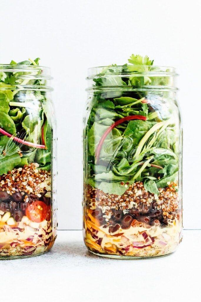 Black Bean Mason Jar Salad