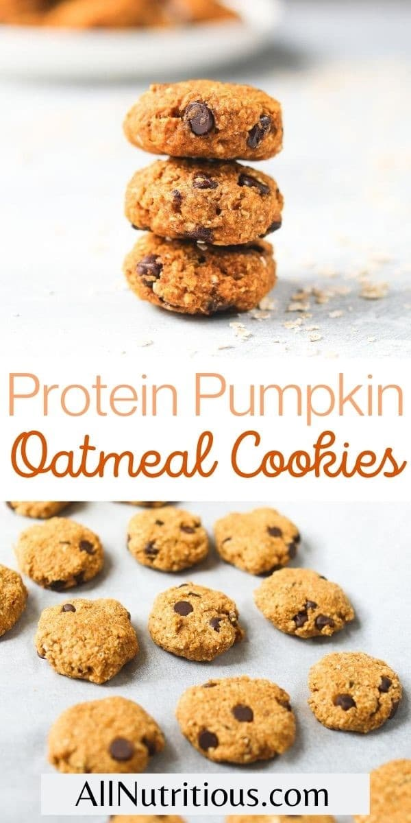 protein pumpkin oatmeal cookies pin
