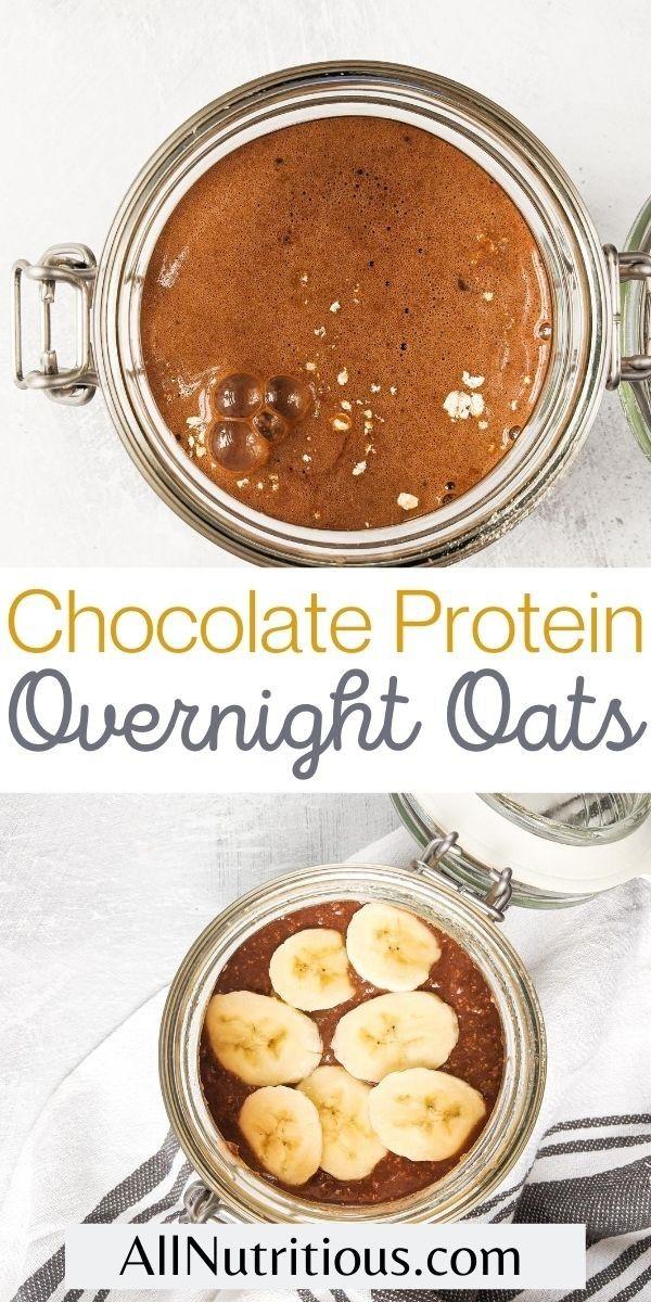 chocolate overnight jar oats pin