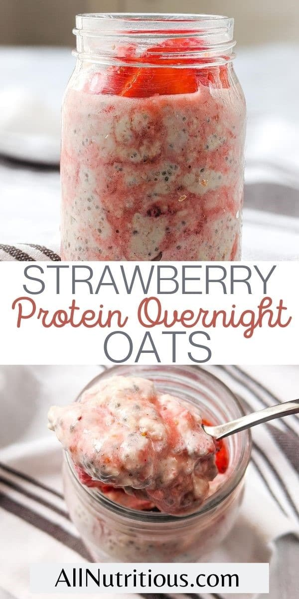 overnight oats with strawberries pin