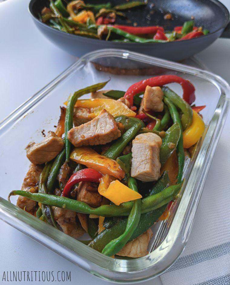Stir-Fried Pork Meal Prep
