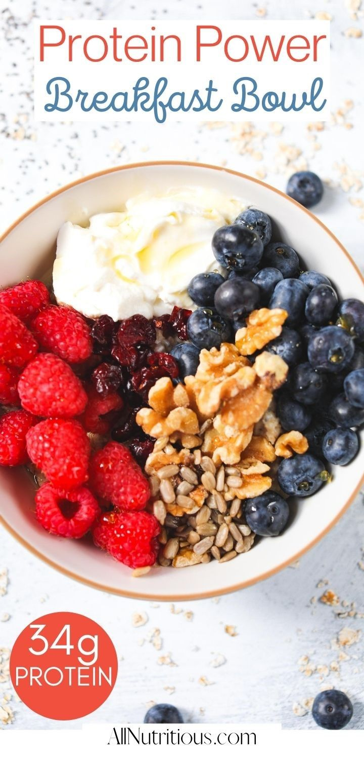 protein power breakfast bowl pin