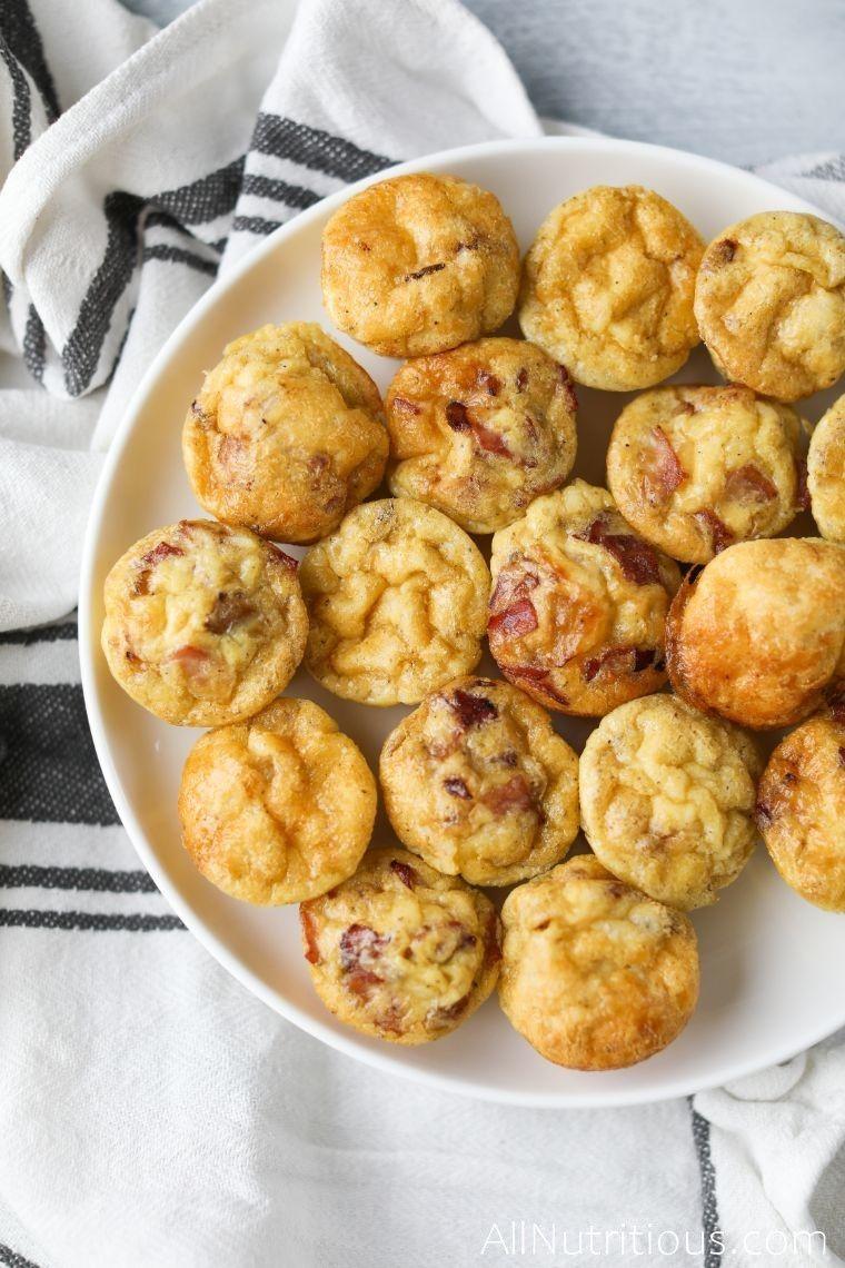 keto egg bites on plate