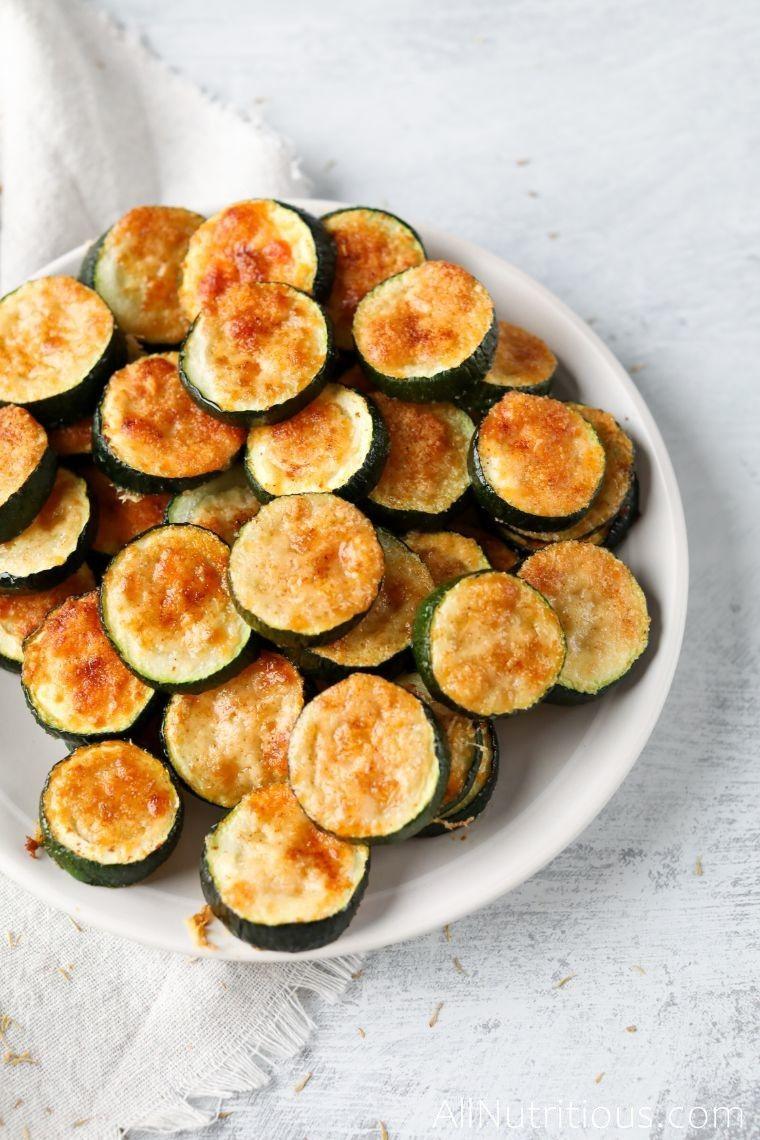 plate of zucchini bites