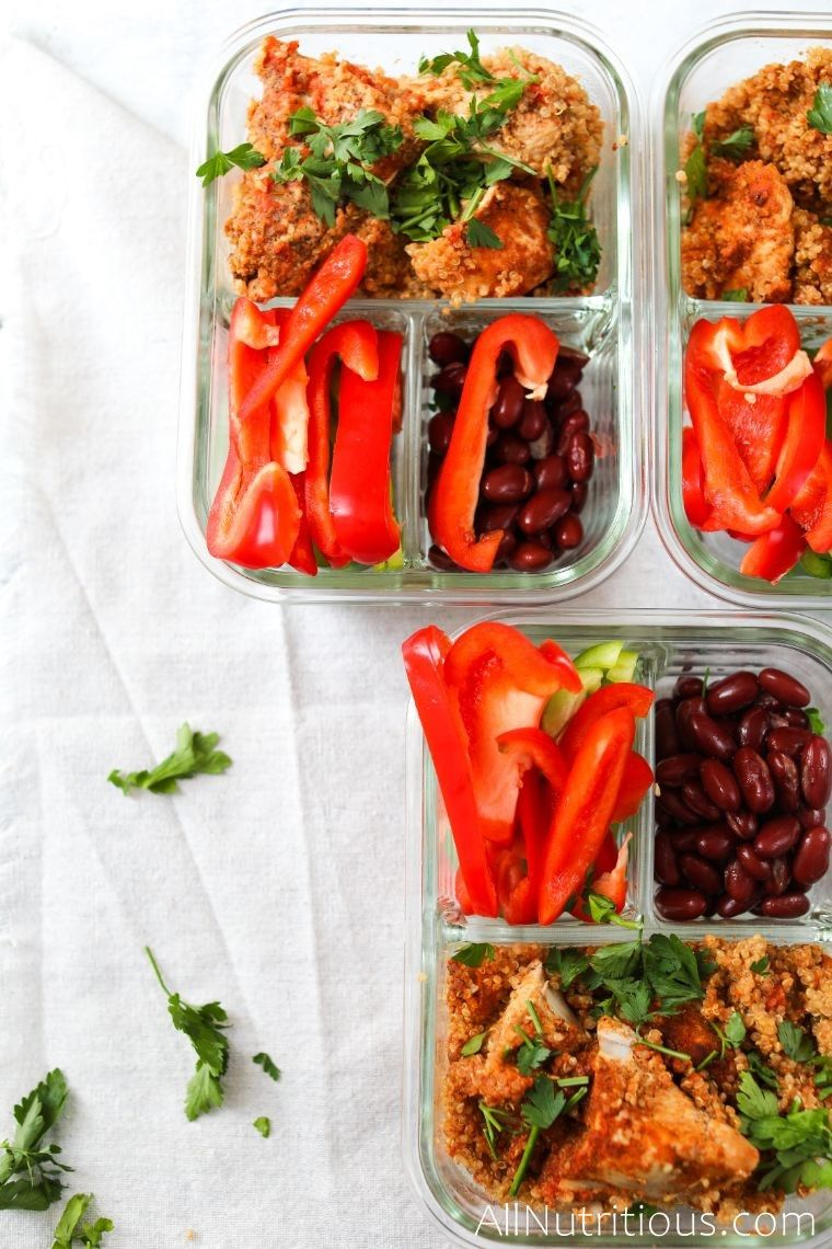 spicy chicken and quinoa meal preps