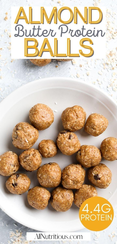 Almond Butter energy bites pinterest