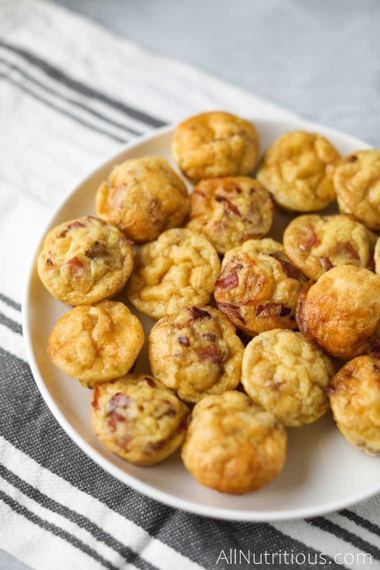 low carb egg bites on plate