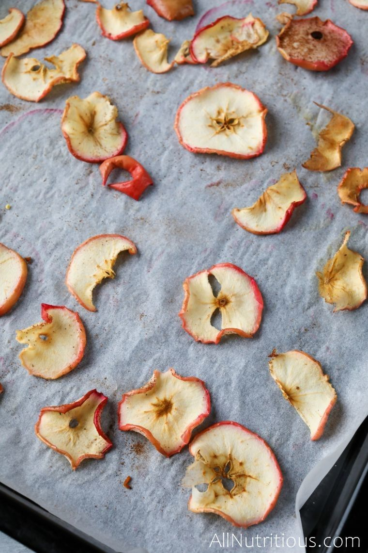 baked apples on sheet pan