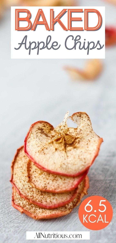 baked apple chips pinterest pin