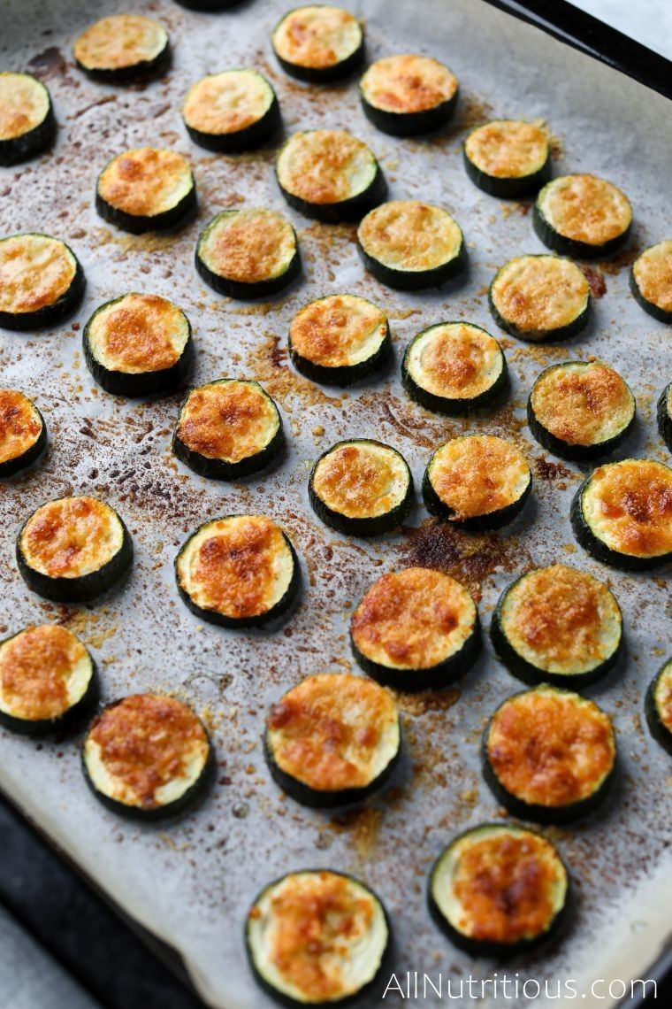 sheet pan with zucchini bites