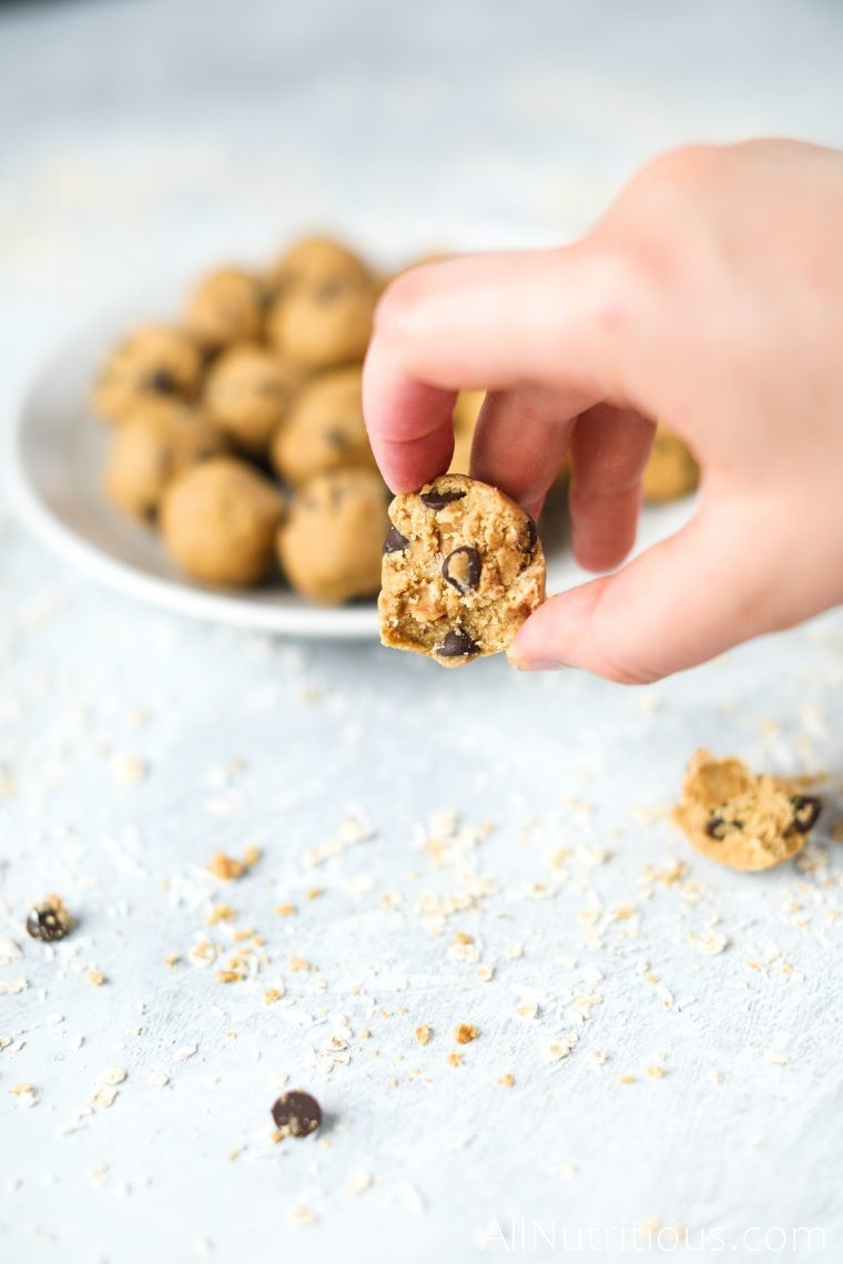 halved cookie dough bites